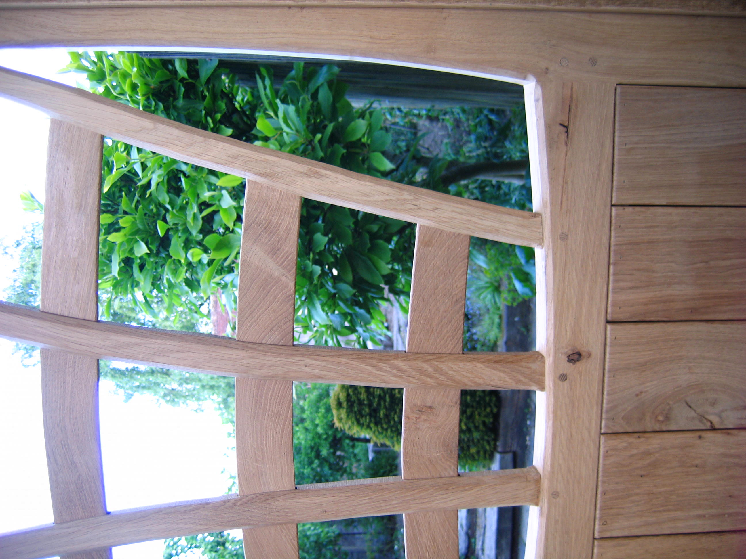 Garden Gate in Oak